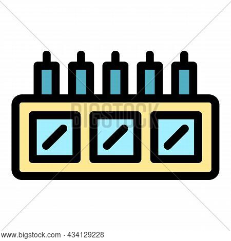 Data Storage Icon. Outline Data Storage Vector Icon Color Flat Isolated