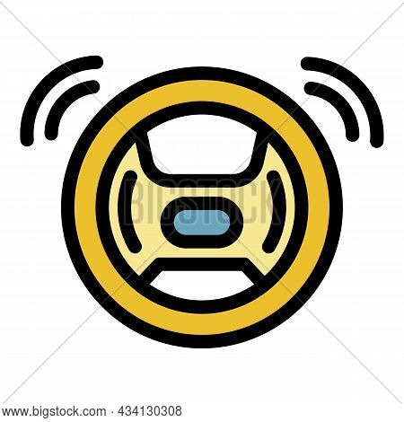 Ai Self Steering Wheel Icon. Outline Ai Self Steering Wheel Vector Icon Color Flat Isolated