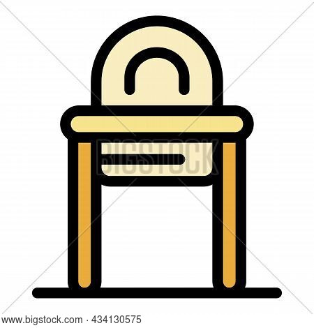 Family Feeding Chair Icon. Outline Family Feeding Chair Vector Icon Color Flat Isolated