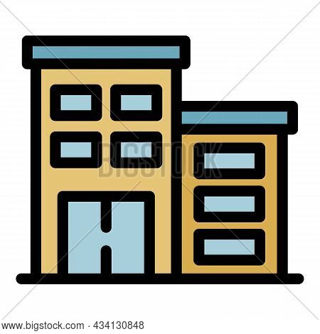 Therapist Building Icon. Outline Therapist Building Vector Icon Color Flat Isolated