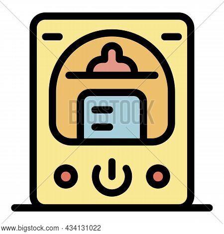 Electric Sterilizer Icon. Outline Electric Sterilizer Vector Icon Color Flat Isolated