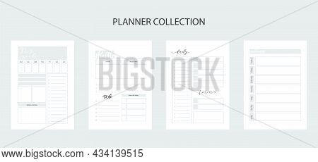 Collection Of Planners For Life And Business, Planner Sheets, Organizer For Personal And Work Issues