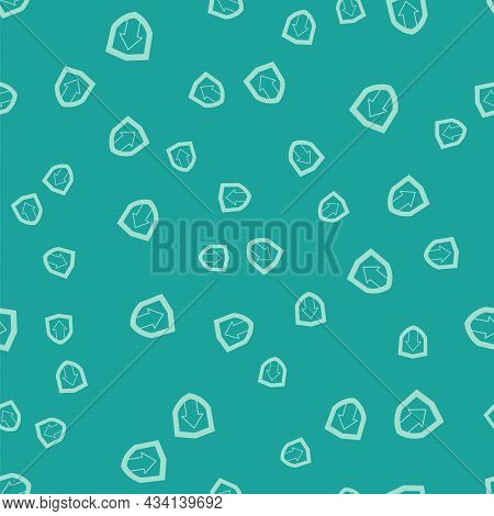 Green Financial Growth Increase Icon Isolated Seamless Pattern On Green Background. Increasing Reven