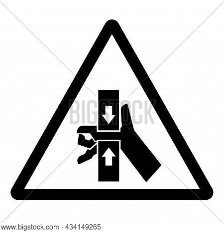 Hand Crush Force From Top And Bottom Symbol Sign, Vector Illustration, Isolate On White Background L