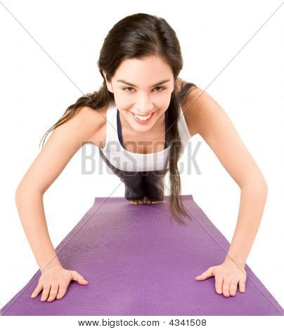 Young Woman Doing Push