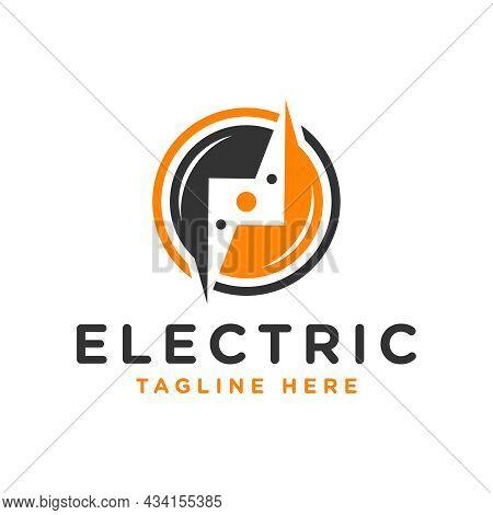 Electric Voltage Inspiration Illustration Logo Design With Letter N