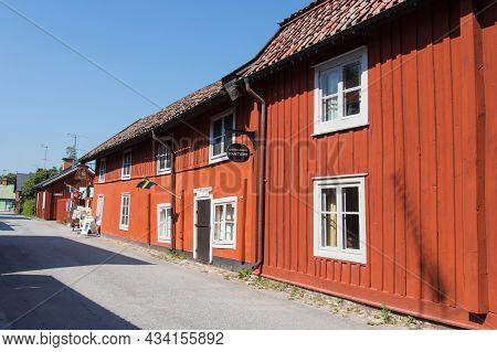 Sweden, Trosa - June 07 2019: Street View Of Garvaregarden, Museum And Former Artisan Farm In A Sunn