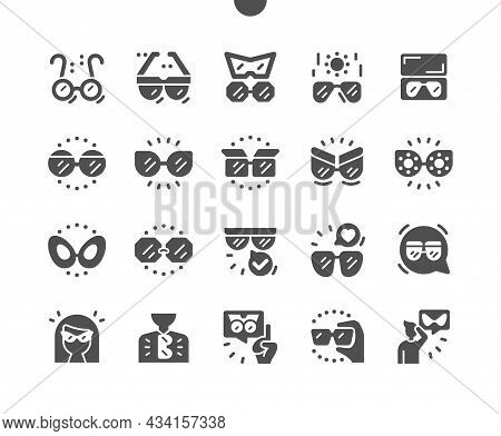 Sunglasses. Beautiful Accessory. Different Types Of Glasses. Girl In Sunglasses. Summer Time. Vector