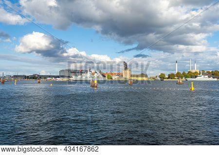 Copenhagen. Denmark. 12. September. 2021 Beautiful View From The Water Of The Royal Danish Maritime