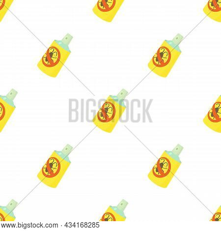 Insecticide Spray Pattern Seamless Background Texture Repeat Wallpaper Geometric Vector