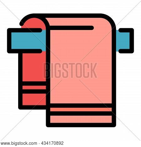 Hotel Towel Icon. Outline Hotel Towel Vector Icon Color Flat Isolated