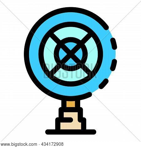 Fan Under Wire Cover Icon. Outline Fan Under Wire Cover Vector Icon Color Flat Isolated