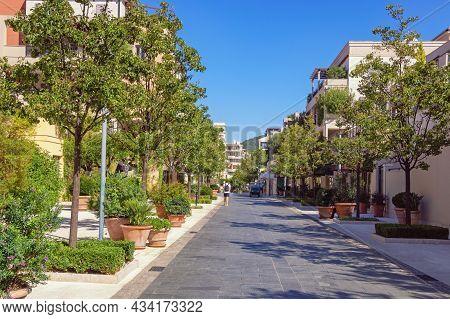 Tivat / Montenegro. September 02 2020 : View Of Tivat City On Sunny Day. Porto Montenegro Village, M