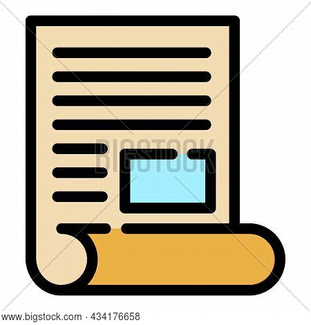 Broker Documents Icon. Outline Broker Documents Vector Icon Color Flat Isolated