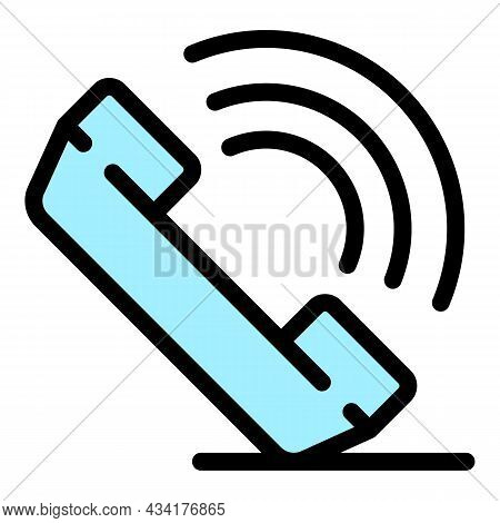 Broker Call Icon. Outline Broker Call Vector Icon Color Flat Isolated