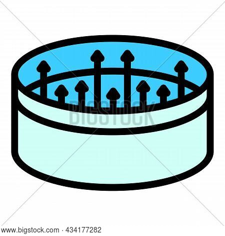 Big Animal Trap Icon. Outline Big Animal Trap Vector Icon Color Flat Isolated