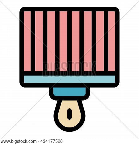 Brazier Grill Icon. Outline Brazier Grill Vector Icon Color Flat Isolated