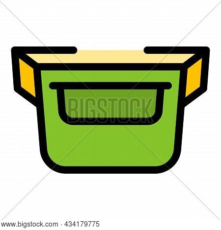 Retro Waist Bag Icon. Outline Retro Waist Bag Vector Icon Color Flat Isolated