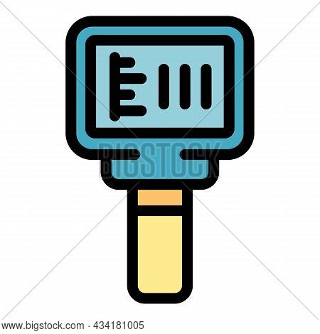 Heating Thermal Imager Icon. Outline Heating Thermal Imager Vector Icon Color Flat Isolated