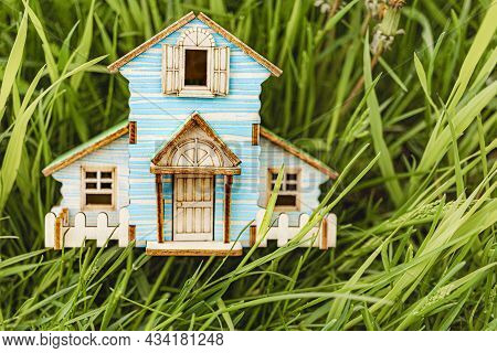 The Concept Of Mortgage And Rental Housing And Real Estate. Mortgage Credit Lending. House Layout In