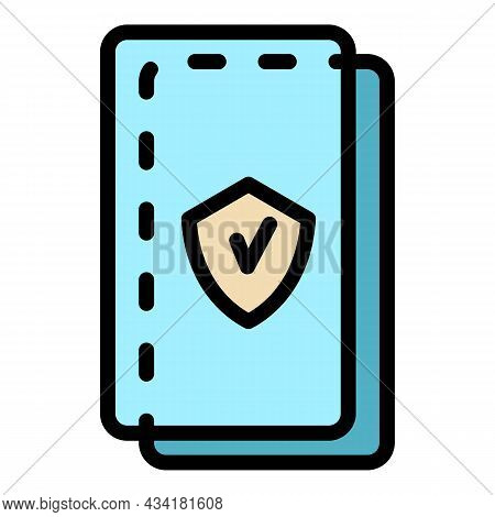Protected Cell Screen Icon. Outline Protected Cell Screen Vector Icon Color Flat Isolated