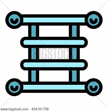 Heated Towel Rail Icon. Outline Heated Towel Rail Vector Icon Color Flat Isolated