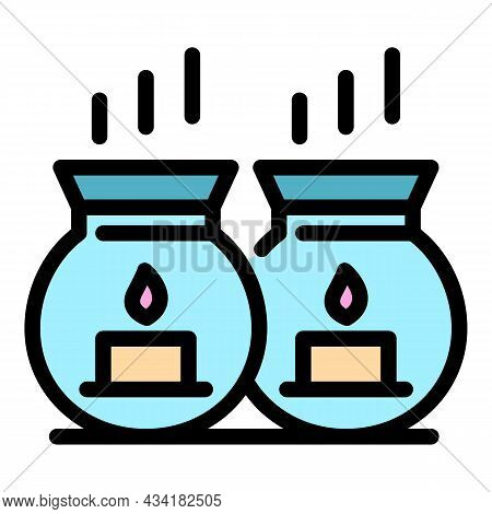 Bath Candles Icon. Outline Bath Candles Vector Icon Color Flat Isolated