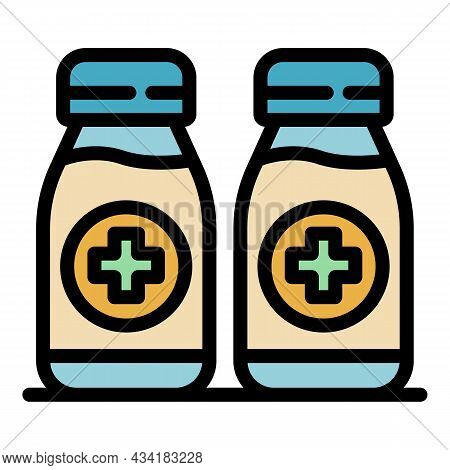 Antiseptic Cream Icon. Outline Antiseptic Cream Vector Icon Color Flat Isolated