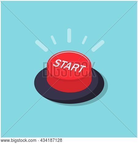 The Red Button With The Word Start Symbolizes The Beginning Of An Important Action