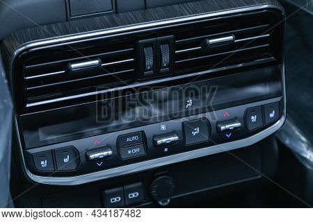 Novosibirsk, Russia - September    24 , 2021: Toyota Land Cruiser 300, Conditioner And Air Flow Cont