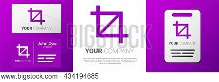 Logotype Picture Crop Photo Icon Isolated On White Background. Logo Design Template Element. Vector