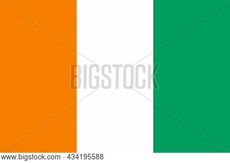 The Flag Of The African Country Of  Ivory Coast