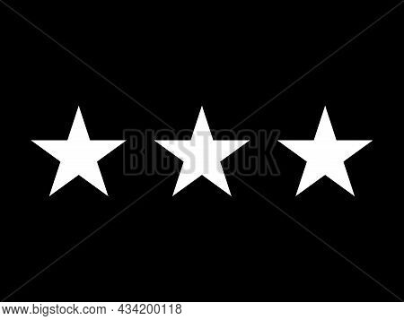 The Flag Of A Usa Space Force Lieutenant General Of A Tri Of White Stars Set Over A Black Background