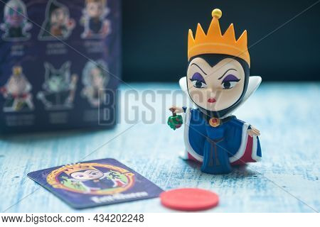 Bangkok, Thailand - September 26, 2021 : Figurine Of The Evil Queen Antagonist Of Disney's Animated