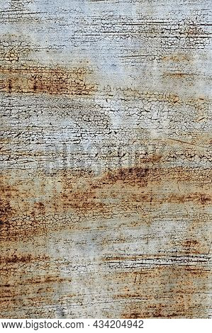 Abstract Background Of Old Rusty Dirty Metal Plate. Attractive Wallpaper Design.