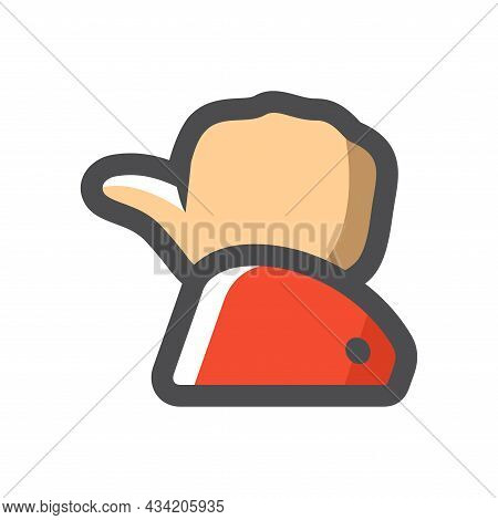 Hand Thumb Up Gesture Vector Icon Cartoon Illustration.