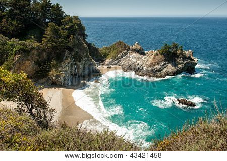 McWay Falls at Julia Pfeiffer Burns State Park, Big Sur, CA poster