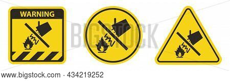 Symbol Label Sign Water To Extinguish The Fire