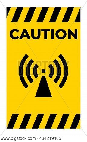 Beware Non-ionizing Radiation Symbol Sign Isolate On White Background,vector Illustration