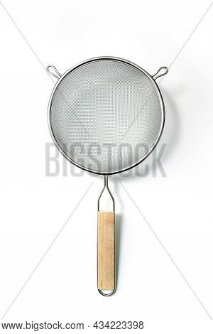 Metal Balloon Whisk Isolated On White Background