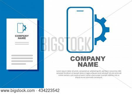 Blue Phone Repair Service Icon Isolated On White Background. Adjusting, Service, Setting, Maintenanc