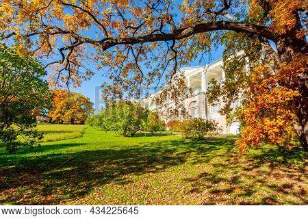 Catherine Park In Golden Fall, Tsarskoe Selo (pushkin), Saint Petersburg, Russia