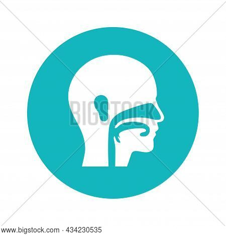 Ear Nose Throat Doctor Logo. Ent Medical Center. Otolaryngology Clinic Concept. Doctor Otolaryngolog