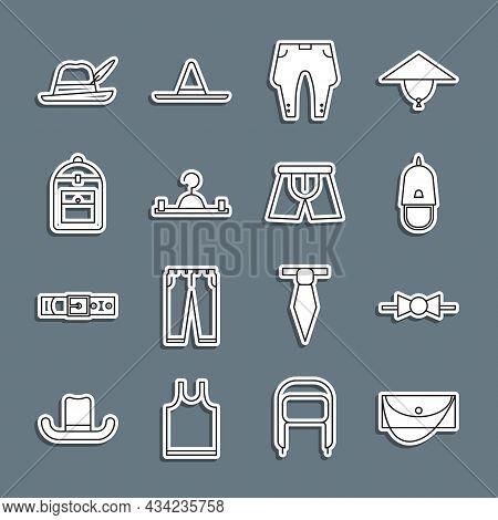Set Line Clutch Bag, Bow Tie, Police Cap With Cockade, Pants, Hanger Wardrobe, Backpack, Oktoberfest