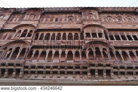 Ancient Mehrangarh Fort In Jodhpur, India
