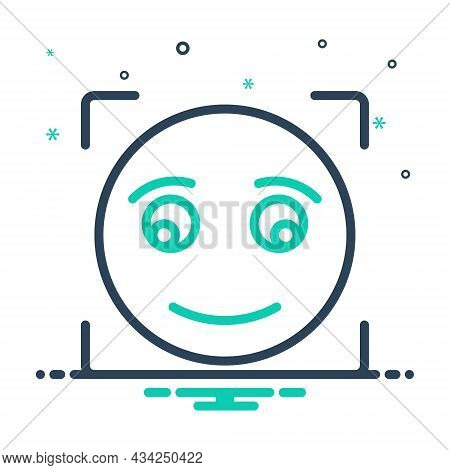 Mix Icon For Briefly Concisely Glance Glimpse Scintilla Emoji Shape Sign Smile