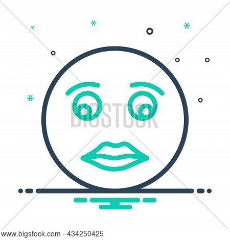Mix Icon For Briefly Concisely Glance Glimpse Scintilla Emoji Shape Sign