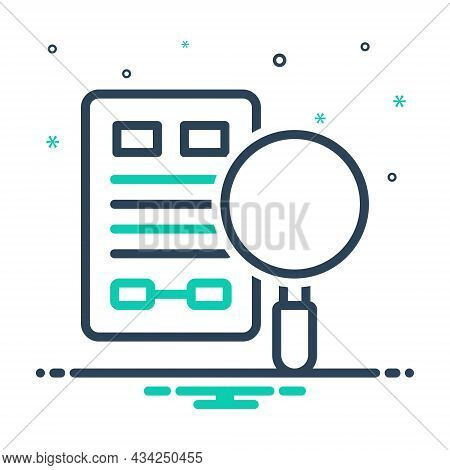 Mix Icon For Evidence Proof Confirmation Verification Clue Information Testimony Vindication Magnify