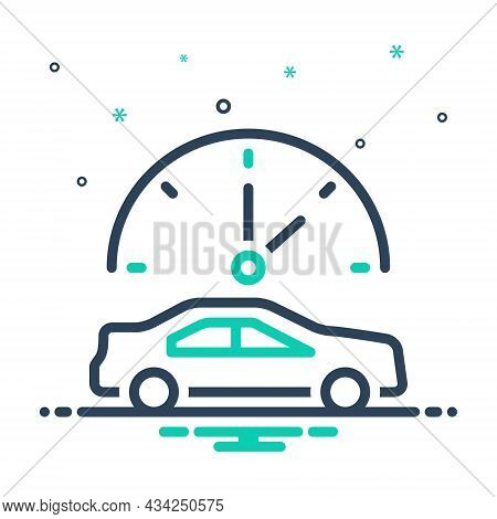 Mix Icon For Sometimes Occasionally Infrequently Rare At-times Few-and-far-between Limited Car Clock