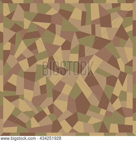 Texture Of Terrazzo Floor. Polished Pebble Stone Tile. Abstract Tile Pattern, Vector Background.